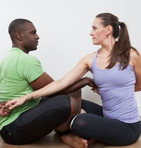 Pilates Trainers coordinated posture