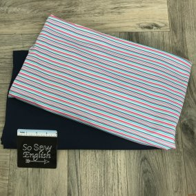 Stripes/Navy Swim Fabric
