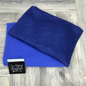 'Denim' performance fabric/Blue gometric 'swim'