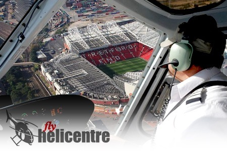 old trafford helikopter