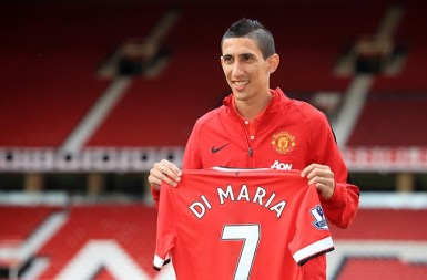 Manchester United new signing Angel di Maria during a photo call at Old Trafford, Manchester.