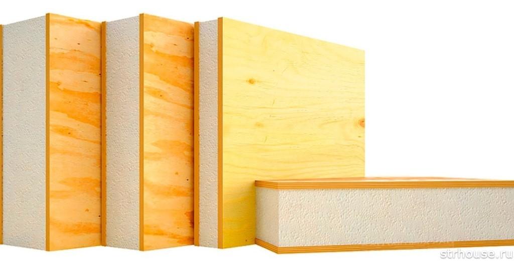 Et eksempel på vinterkonstruktion af huset af paneler