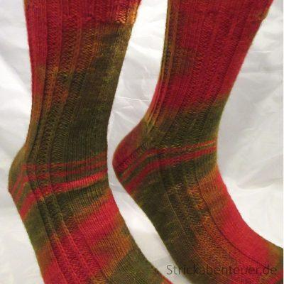 handgestrickte Socken Muster Schafpaten-Socken Wolle Etherische Öle