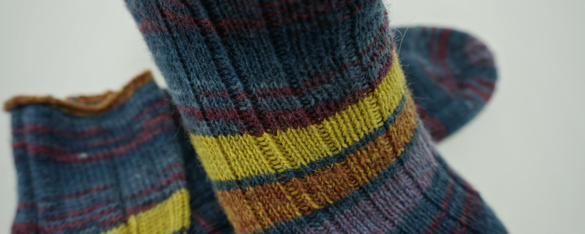 Socke ohne Muster