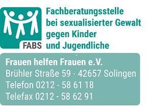 Fachberatungsstelle bei sexualisierter Gewalt gegen Kinder und Jugendliche Solingen