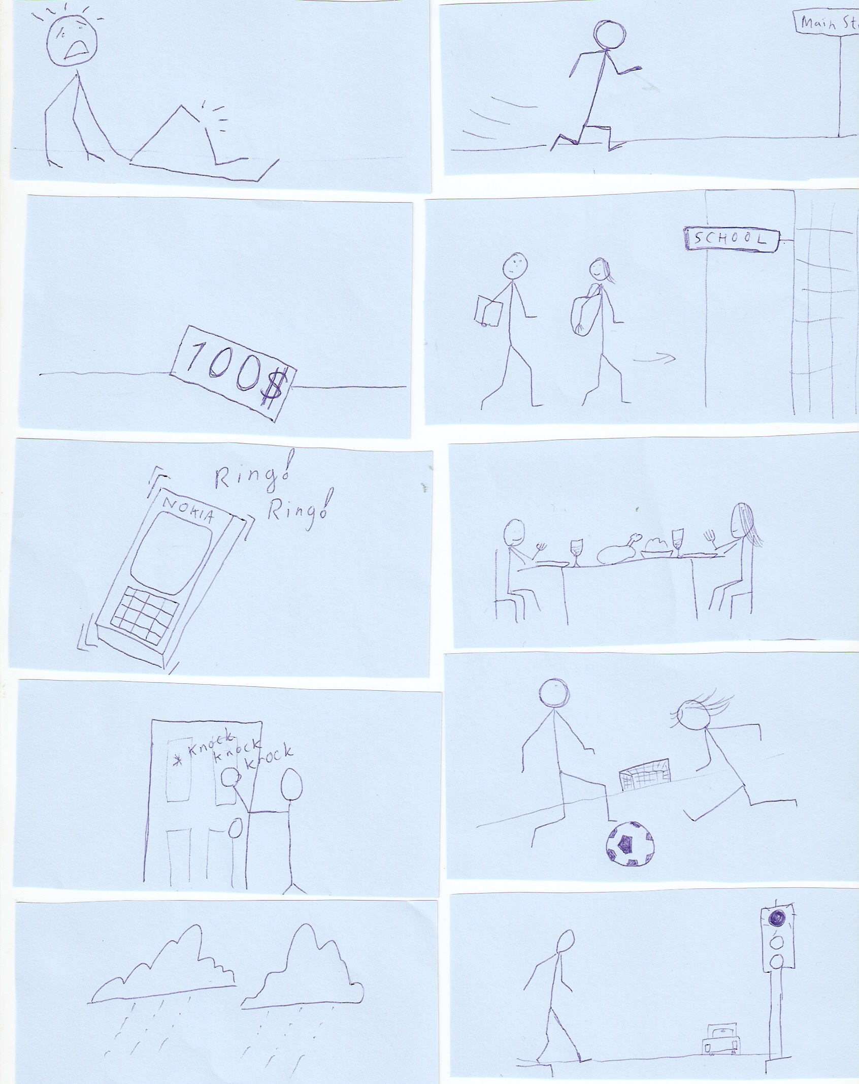 Past Continuous Narrative Tenses Story Pictures Game