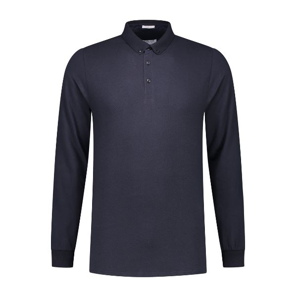 Polo l/s Honeycomb Stretch Jersey