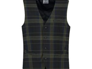 Gilet English Check Dk.Navy