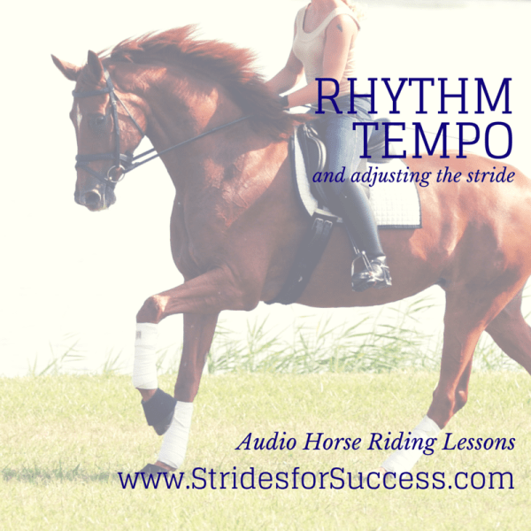 Rhythm and tempo and adjusting the stride