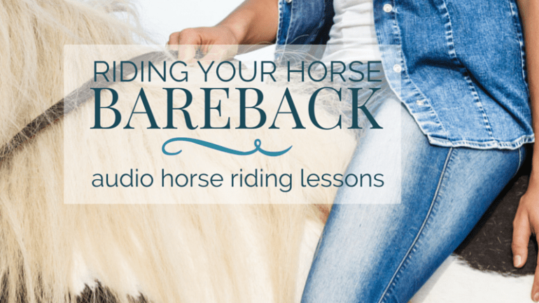 Riding Your Horse Bareback