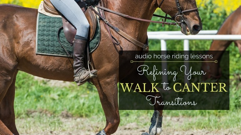 Refining Your Walk to Canter Transition