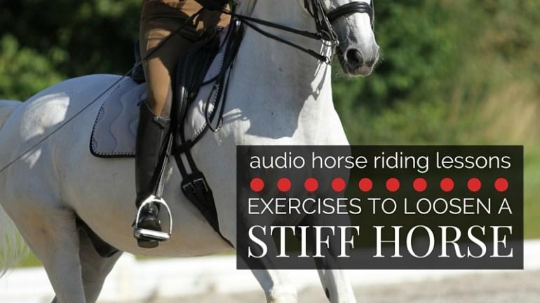 Exercises to Help Loosen a Stiff Horse