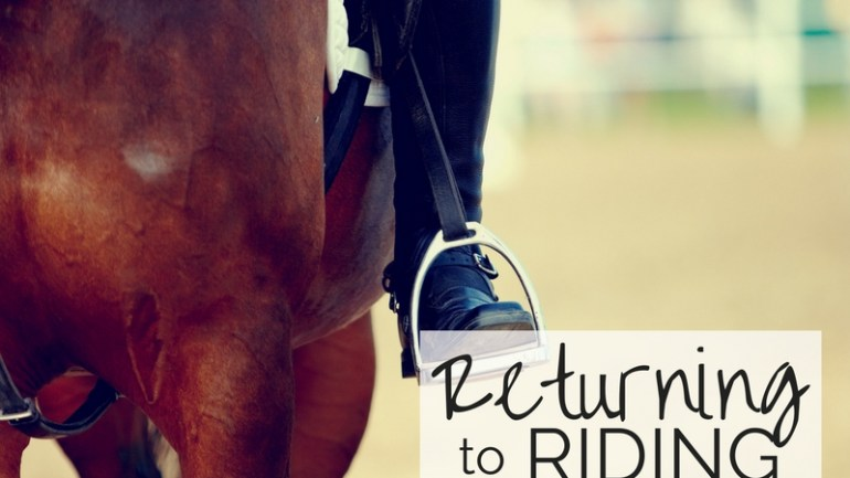 Returning to Riding – Step by Step