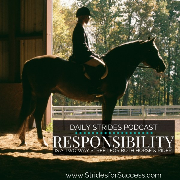 Responsibility is a Two Way Street for Both Horse & Rider