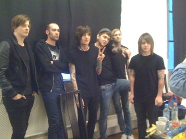 Backstage with Bring me the horizon, when I was the stylist for the music video: Blessed with a curse. Actress: Ragnhild Harket.