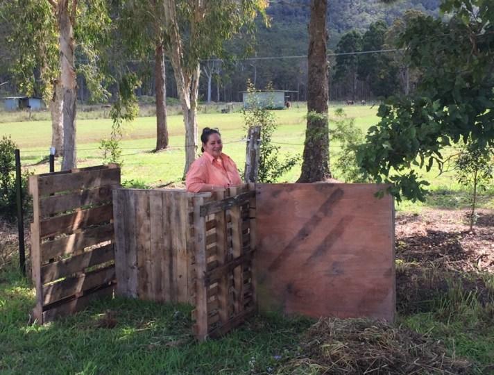 Mid compost-bin construction.