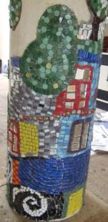 closeup of hundertwasser mosaic