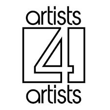 A logo for Artists 4 Artists