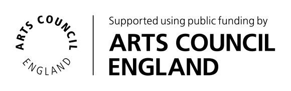 """A logo reading """"Supported using public funding by Arts Council England"""""""