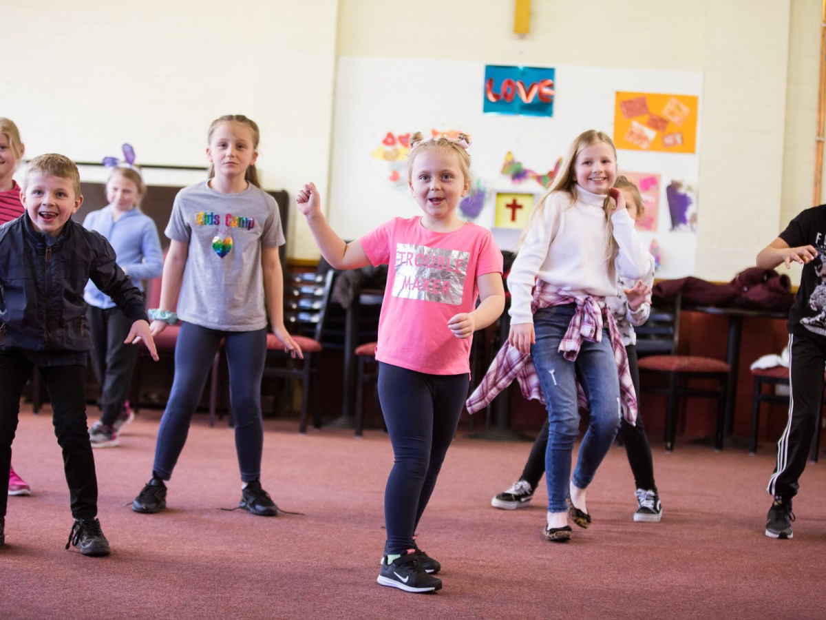 7-11 year olds from our Youth Theatre enjoying one of the sessions