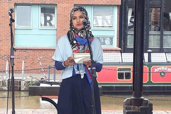 Halima Malek reading
