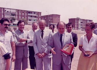 Jordi Pujol a l'inauguració del Camp de Beisbol de Sant Boi