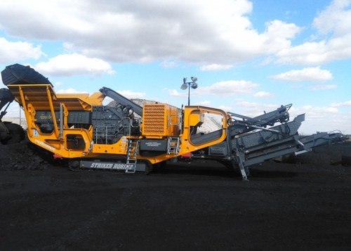 Striker Impact crusher crushing coal HQR1112