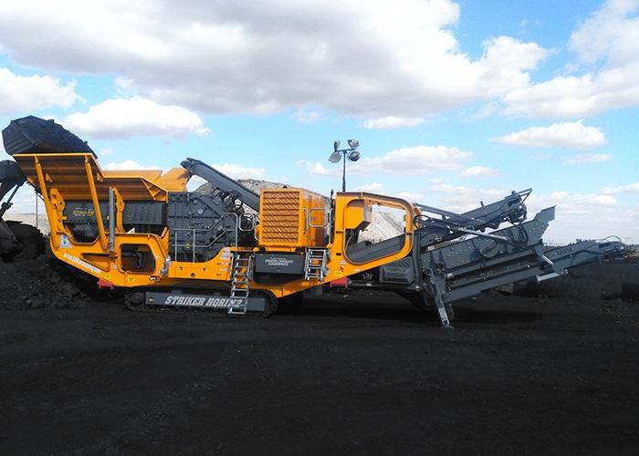 Striker Impact crusher crushing coal HQR1112
