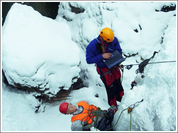 Drop Testing Ice Screws Ouray Beverly