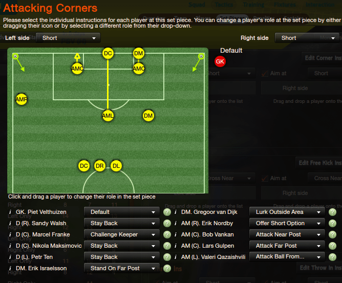 These settings no longer work, but they used to generate a lot of goals.