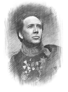 [Nicolas Cage portrait.]