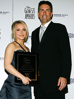 Hayden Panettiere and HSUS President Wayne Pacelle. Photo by Vince Bucci / Getty