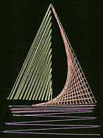 string art boat