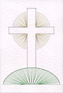 cross on a hill pattern added at stitching cards string art is my craft. Black Bedroom Furniture Sets. Home Design Ideas