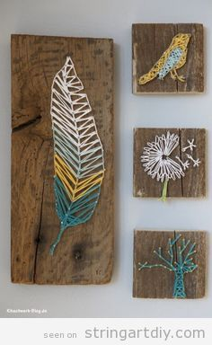 feather dandelion tree and bird string art string art diy free patterns and templates to. Black Bedroom Furniture Sets. Home Design Ideas
