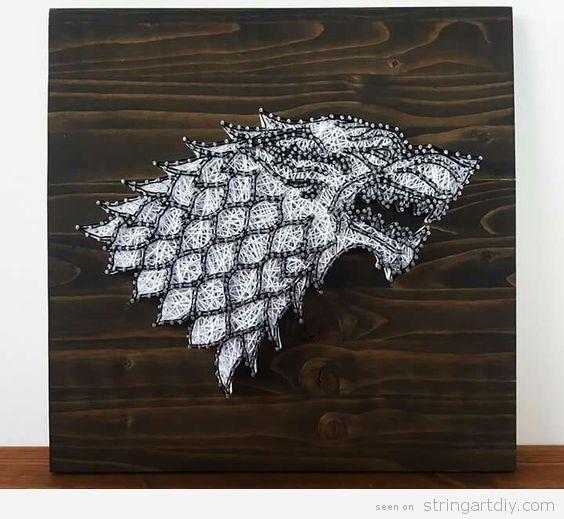 Game Of Thrones String Art House Stark 2