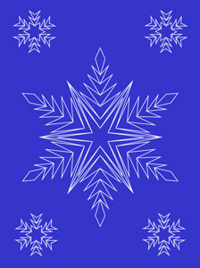 Snowflakes pattern at String Art Fun website