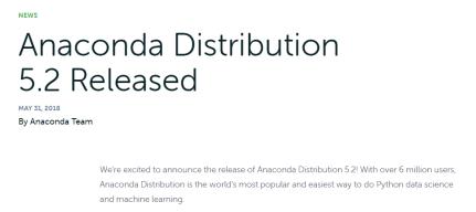 Anaconda Distribution news release