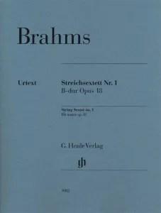 Johannes Brahms- String Sextet No. 1 in B-flat, Op. 18 G. Henle Verlag