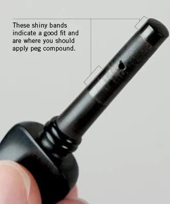 violin tuning peg