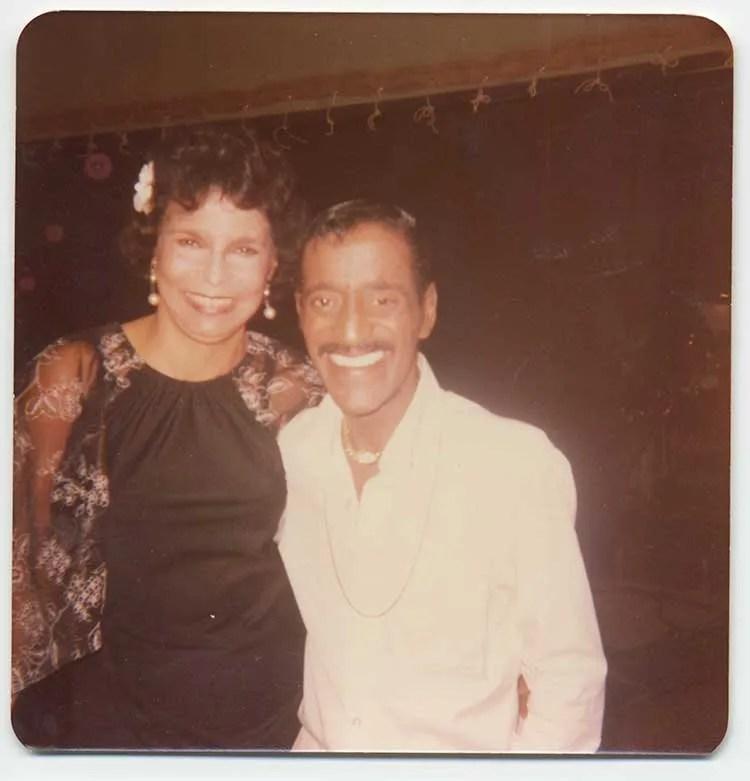 Jazz violinist Ginger Smock and Sammy Davis, Jr., 1980