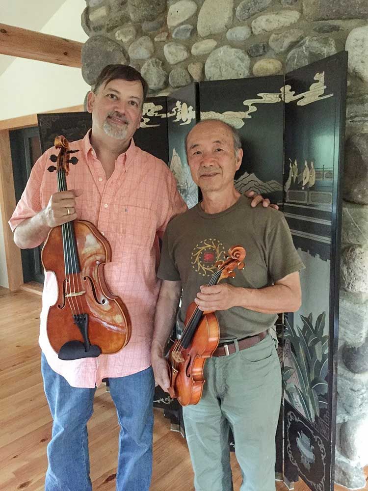 John Pesky and Hiroshi Iizuka, photo: Daniela Iizuka