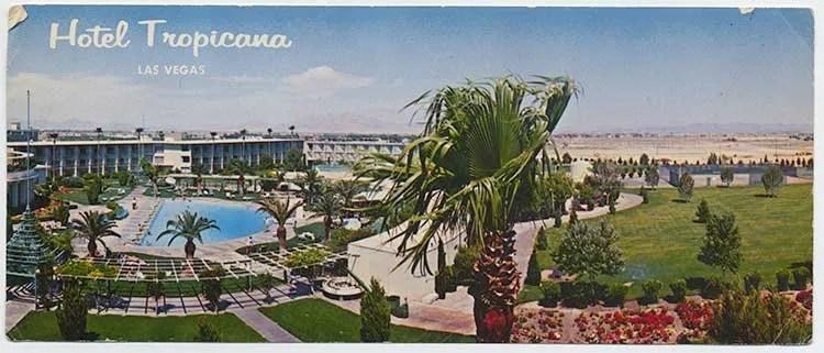 Hotel Tropicana postcard front, c. 1975