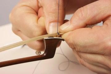 violin bow rehair