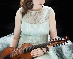 Rachel Barton Pine with her viola d'amore