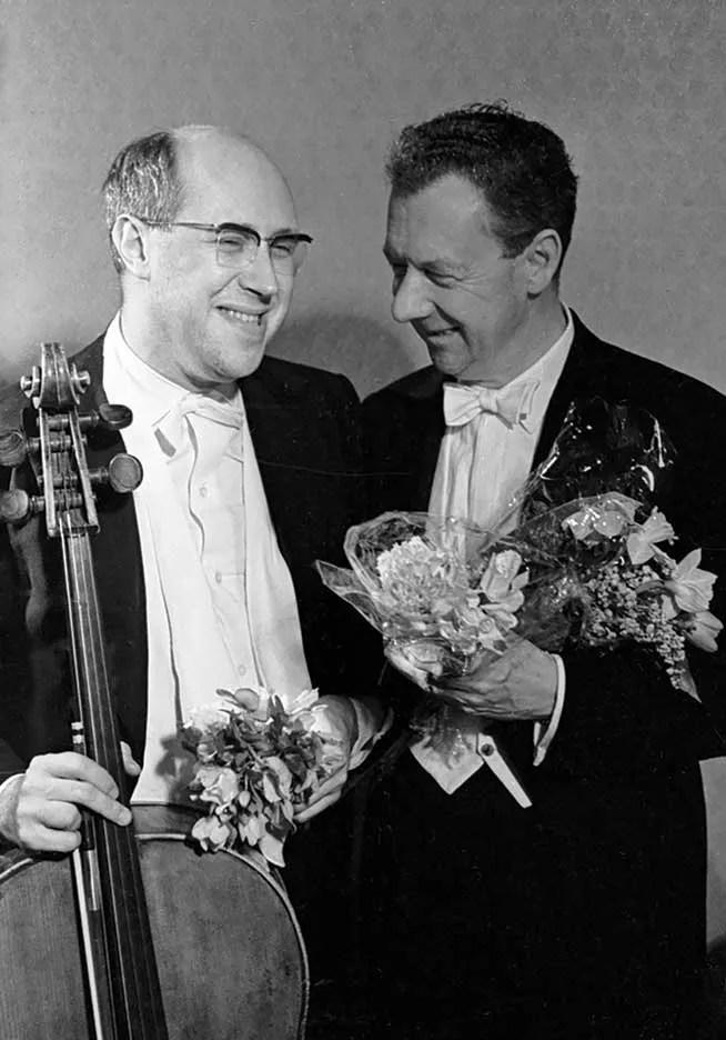 Mstislav Rostropovich and Benjamin Britten