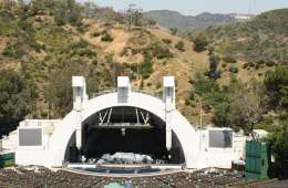 Legendary venue the Hollywood Bowl stage