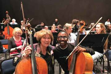 Marcia Peck and the Minnesota Orchestra work with the South African National Youth Orchestra (SANYO)