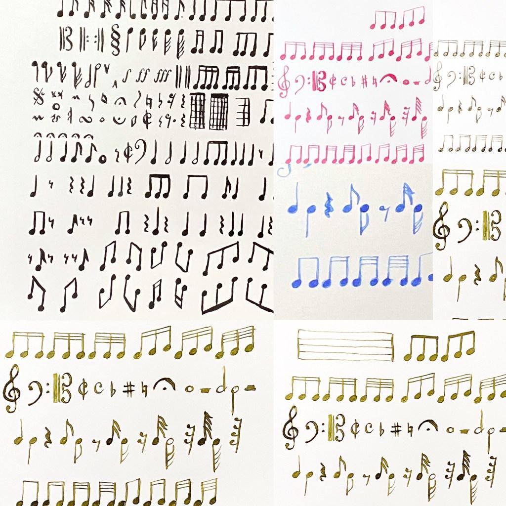 fountain pen music score