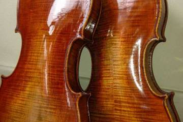 1- and 2-piece violin backs made by Marilyn Wallin